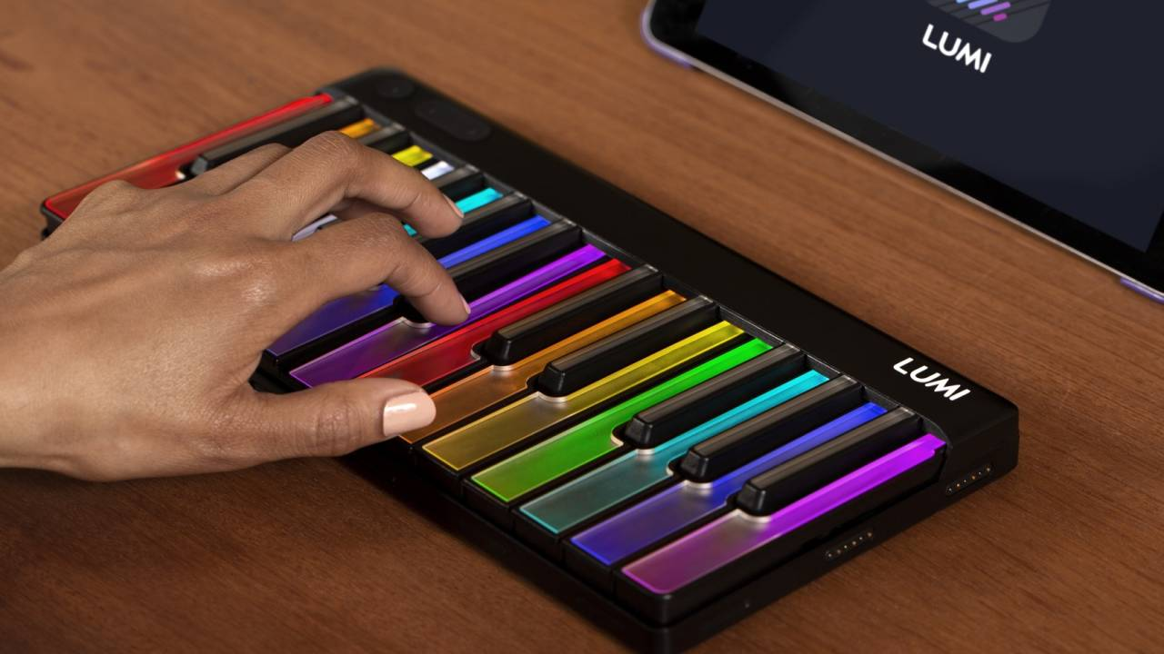 ROLI LUMI is a modular light-up keyboard for learners and pros