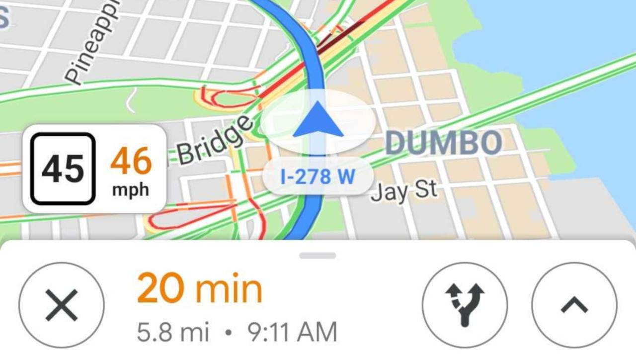 Google Maps on-screen sdometer will warn you if you're ... on