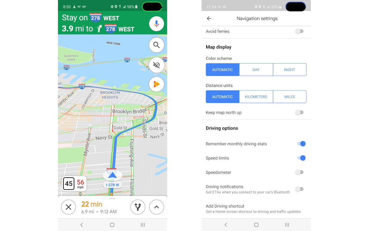 Google Maps on-screen speedometer will warn you if you're