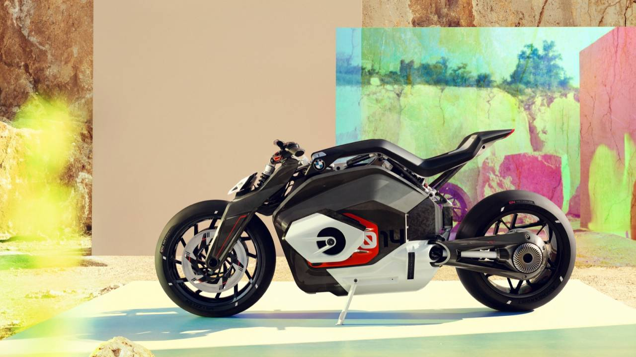 This is BMW's vision of tomorrow's electric motorcycle