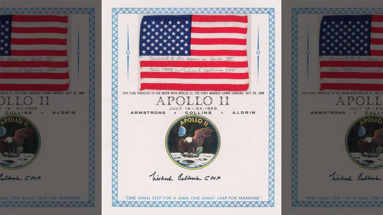 Apollo 11 flag and other space artifacts head to auction