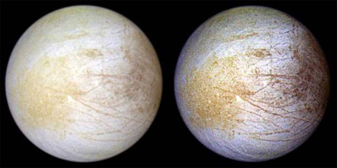 Researchers say yellow substance on Europa's surface is likely table salt