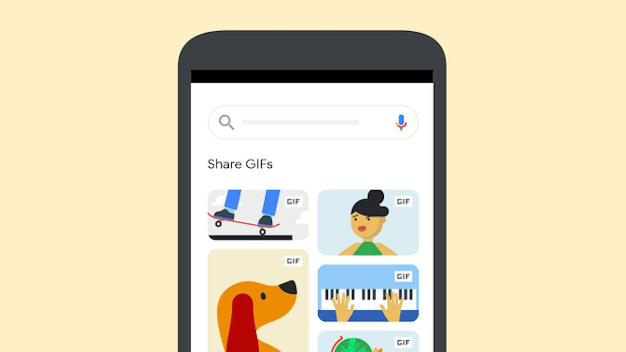 Google Images makes it easier to share the GIF to express yourself