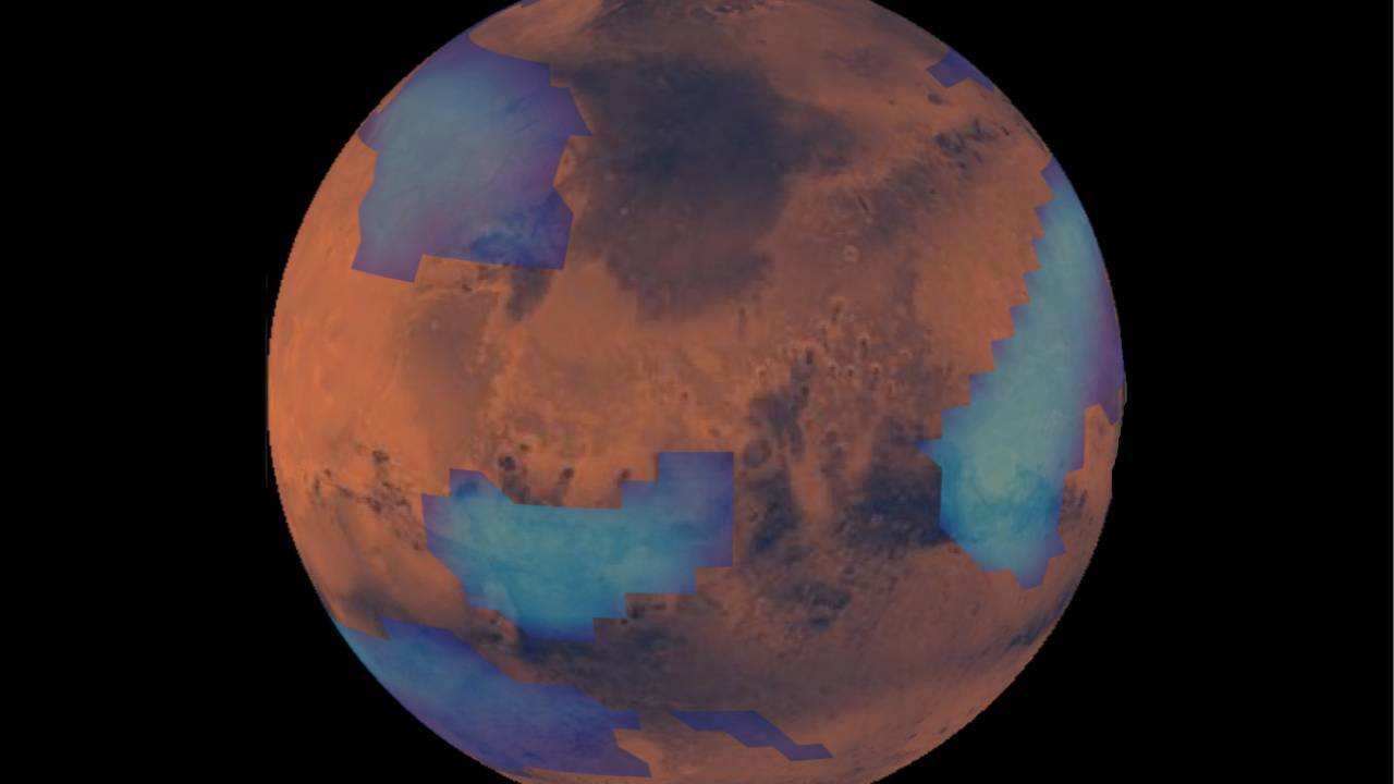 Smoky Mars clouds are made from pulverized meteors
