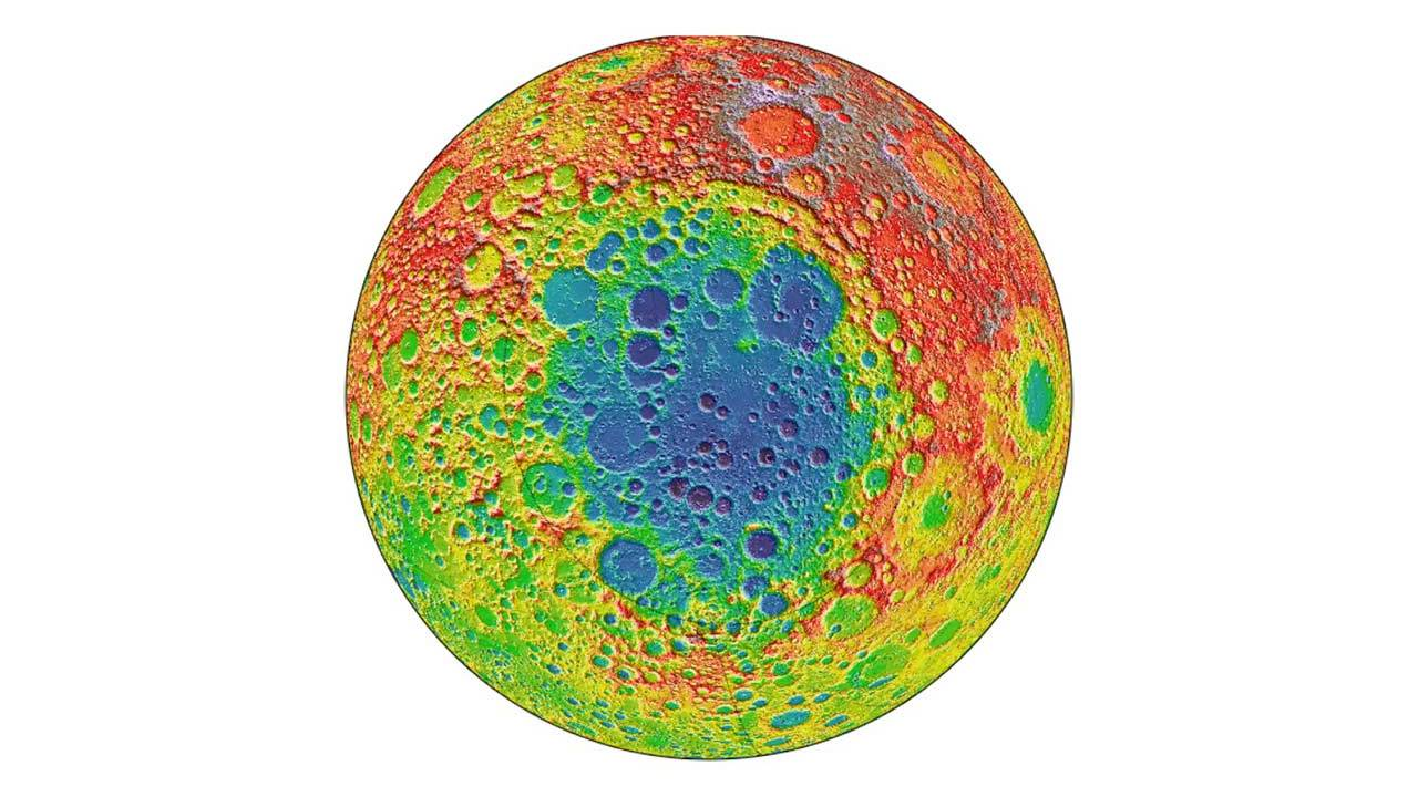 A mass of metal was found under a crater on our moon