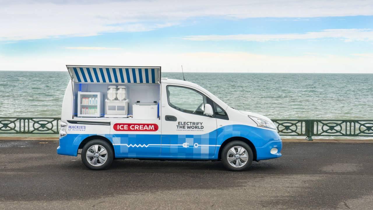 Nissan's electric ice cream van concept packs treats and solar panels