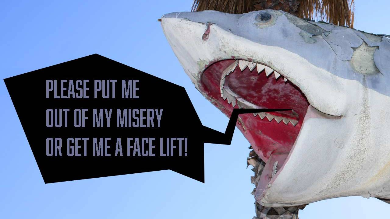 Original Jaws restored (it looks a lot better than this, now)
