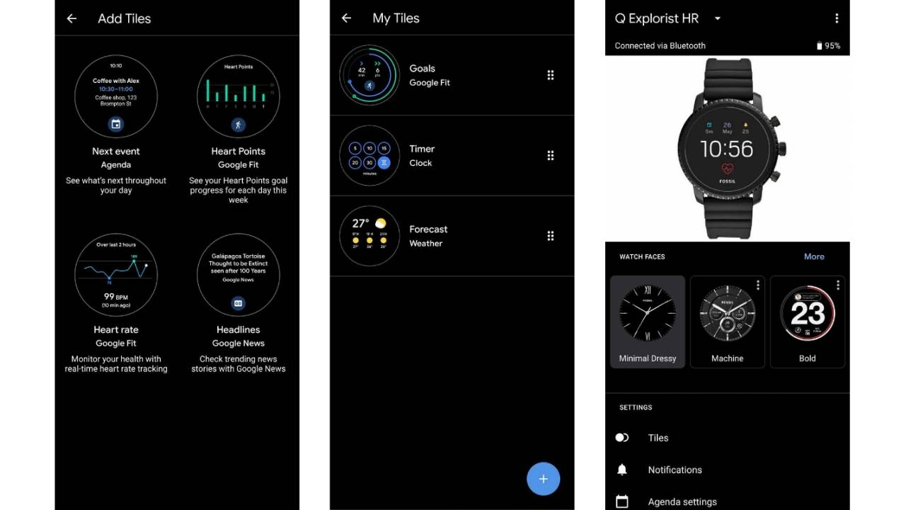 Wear OS Tiles finally has an manager app on phones