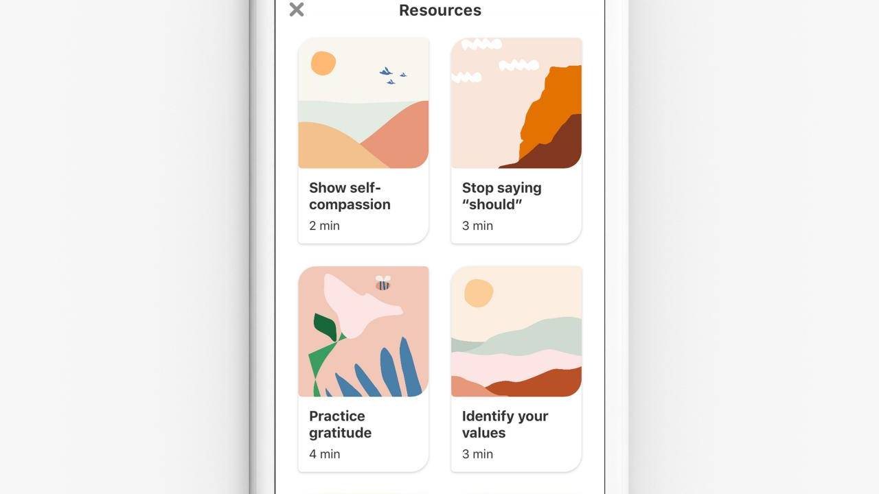 Pinterest introduces activities to reduce stress and inspire well-being