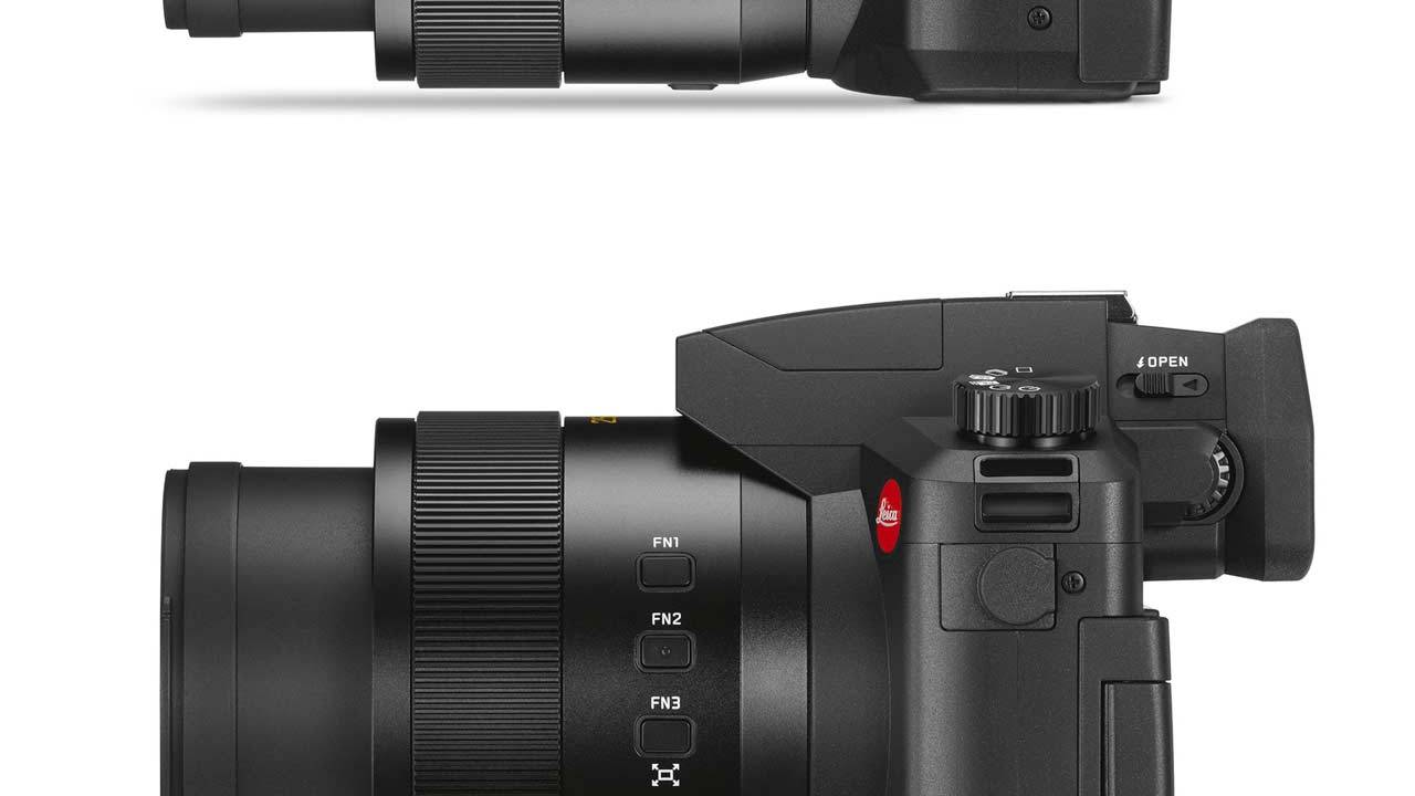 Leica V-Lux 5 camera is rolls with 25-400 mm lens