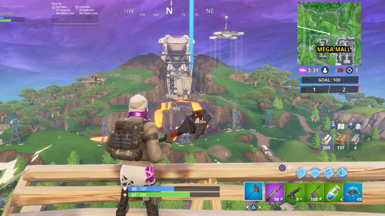 Fortnite's massive robot grows, hinting at season 9 finale