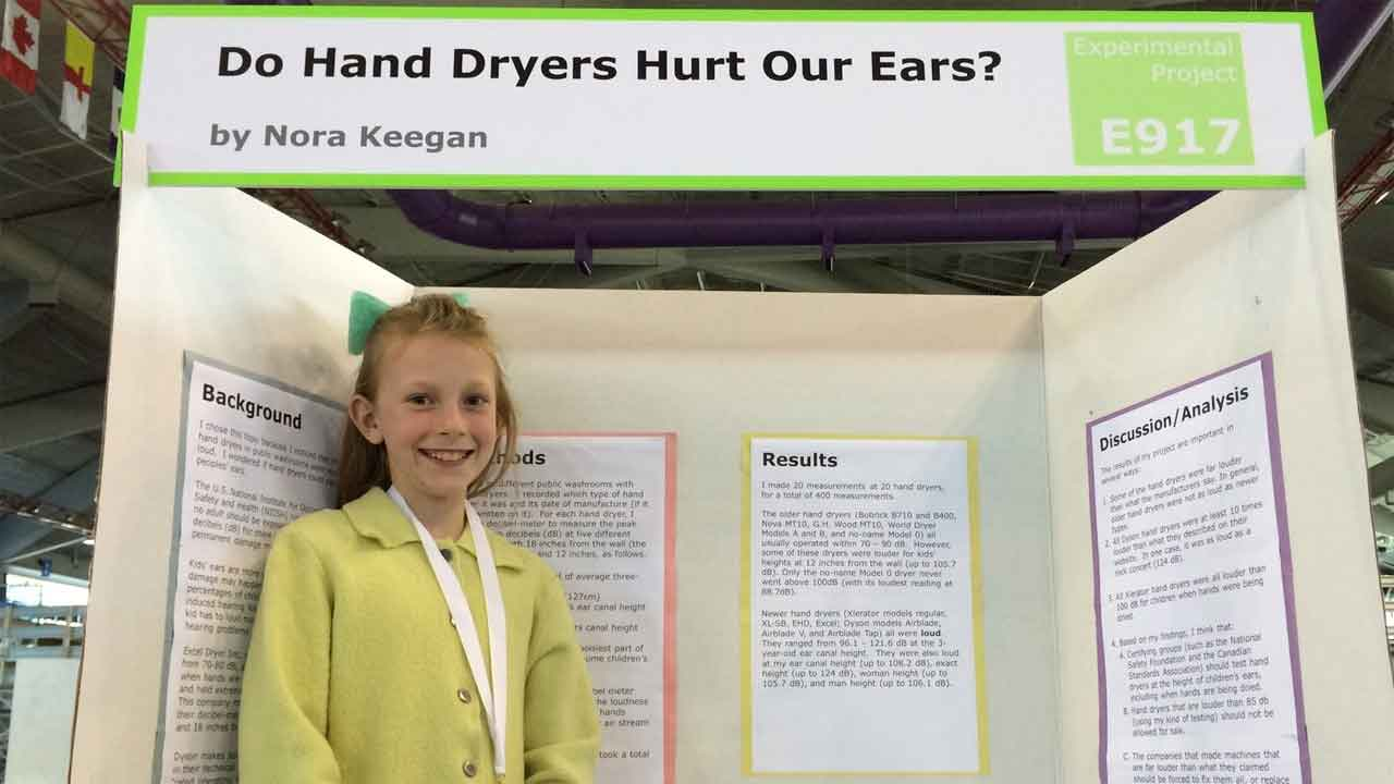 13-year-old researcher finds hand dryers are harmful to children's hearing