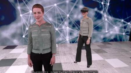 Microsoft has a hologram that translates talks into another language