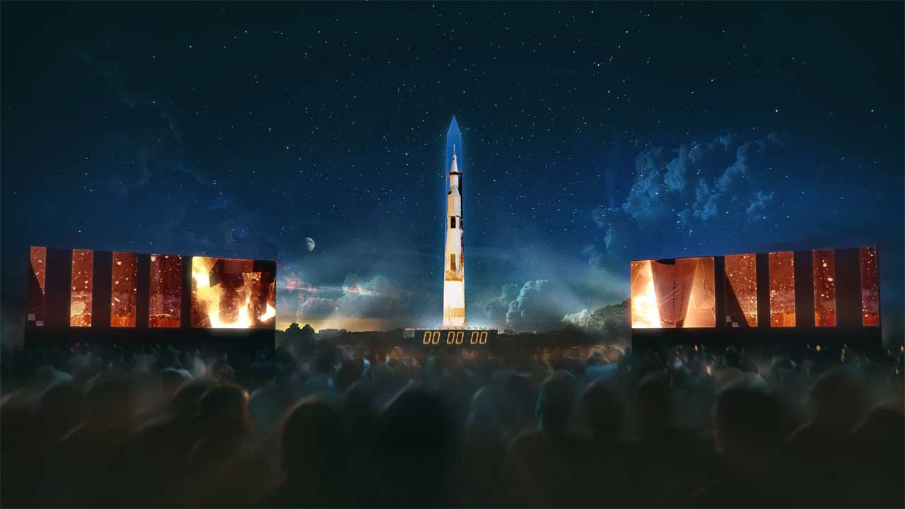 Saturn V rocket to be projected on Washington Monument next week
