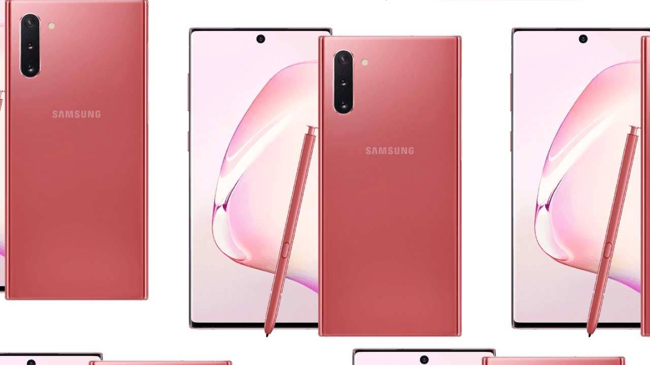 Samsung Galaxy Note 10: Release with Pink Edition for August