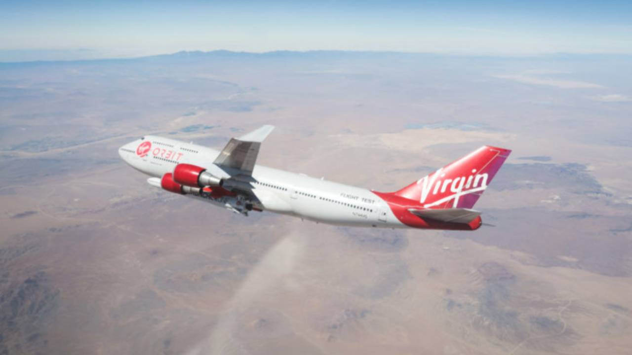 Virgin Orbit successfully drops rocket from plane over Mojave Desert