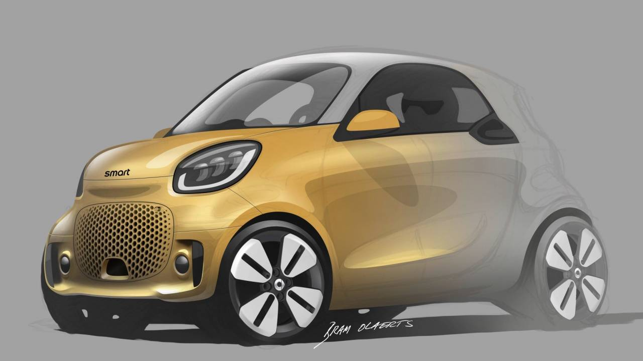 2020 Smart EQ fortwo previewed as all-EV future gets interesting