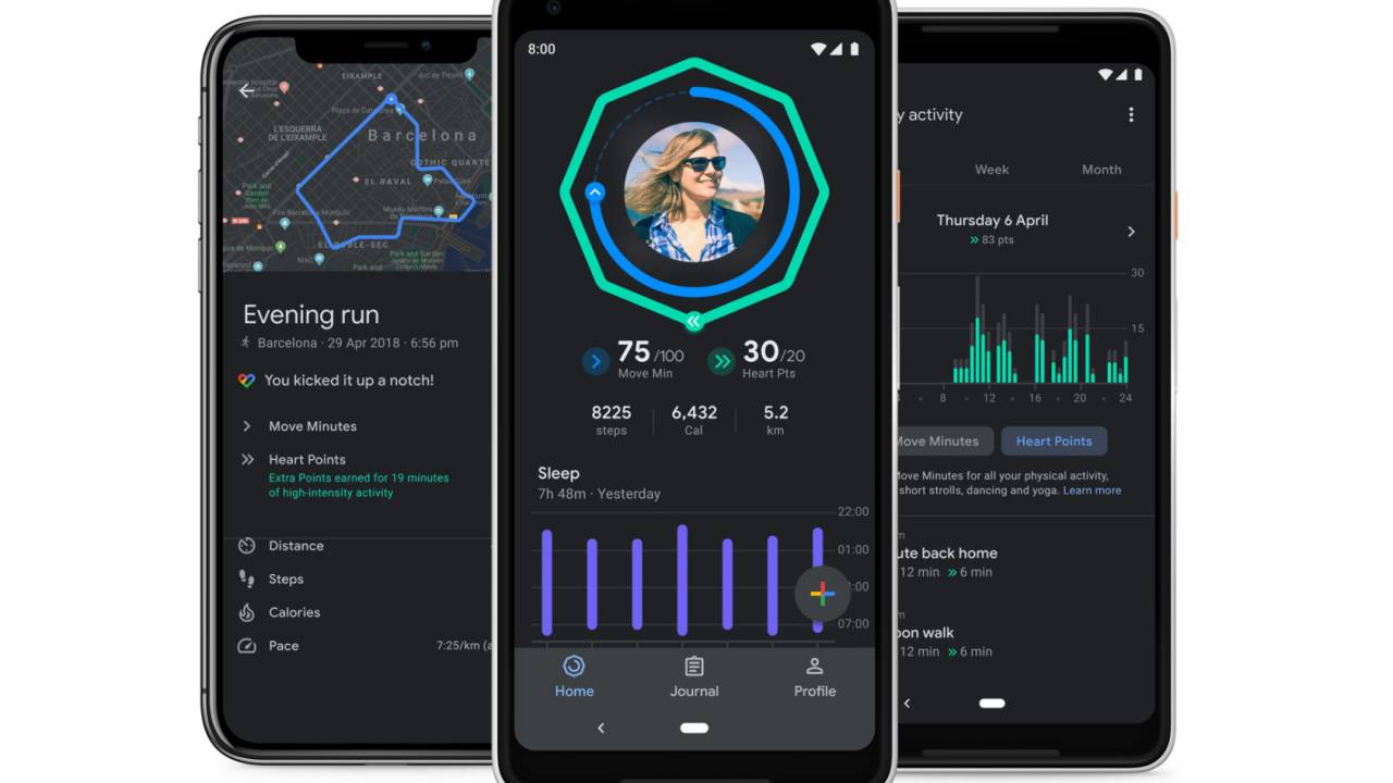 Google Fit dark mode, sleep charts and iOS workout maps added