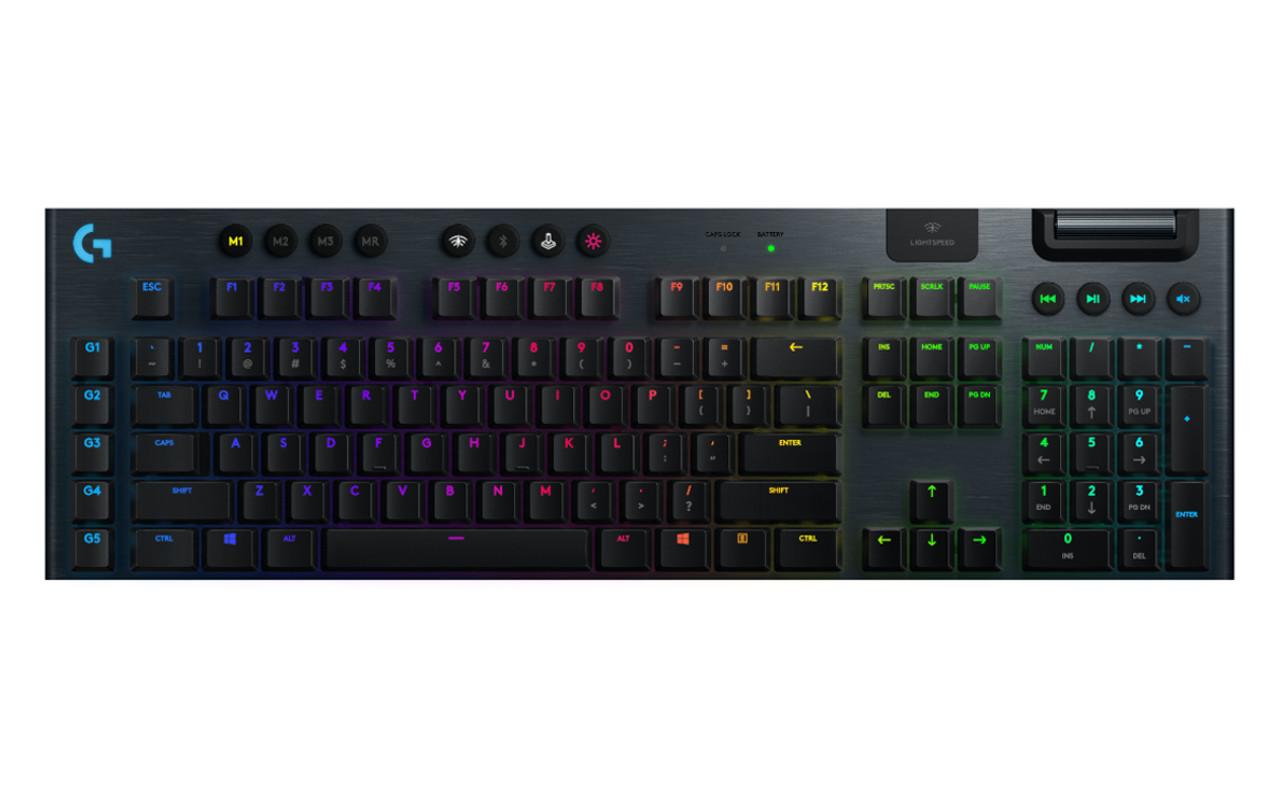 Logitech G915 Lightspeed low-profile gaming keyboard first