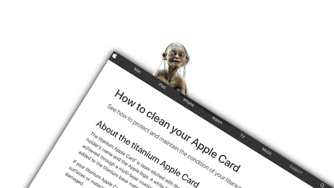 Leather and denim Apple Card cleaning guide goes viral