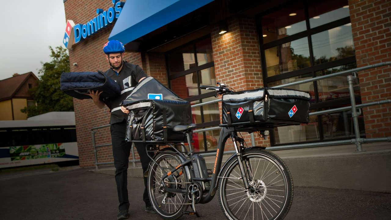 Domino's will start delivering pizzas with e-bikes across the US