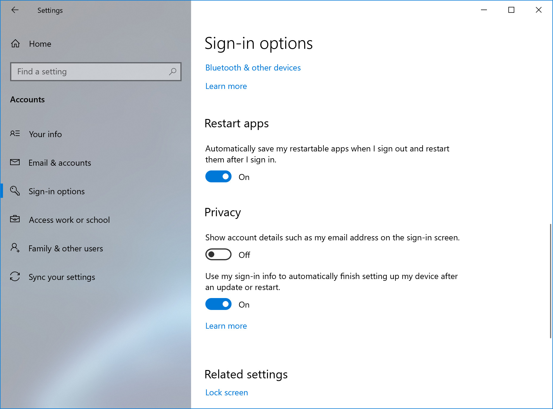 Windows 10 Preview can automatically restart some apps at