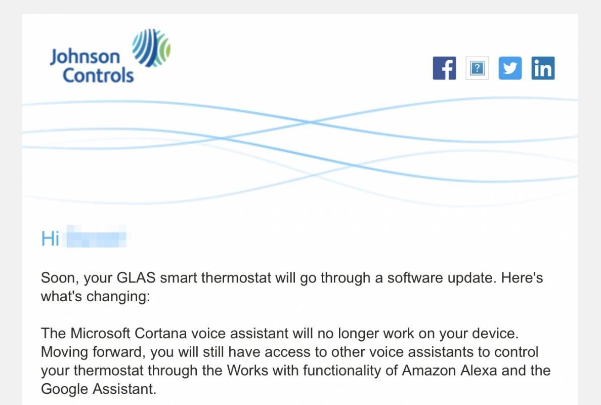 The sleek GLAS smart thermostat is losing Cortana - SlashGear