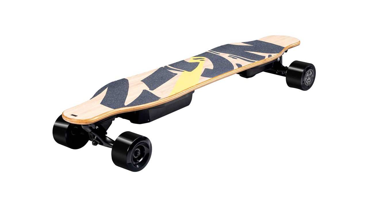 Swagtron NG2 smart electric longboard AI moves with shifts in weight