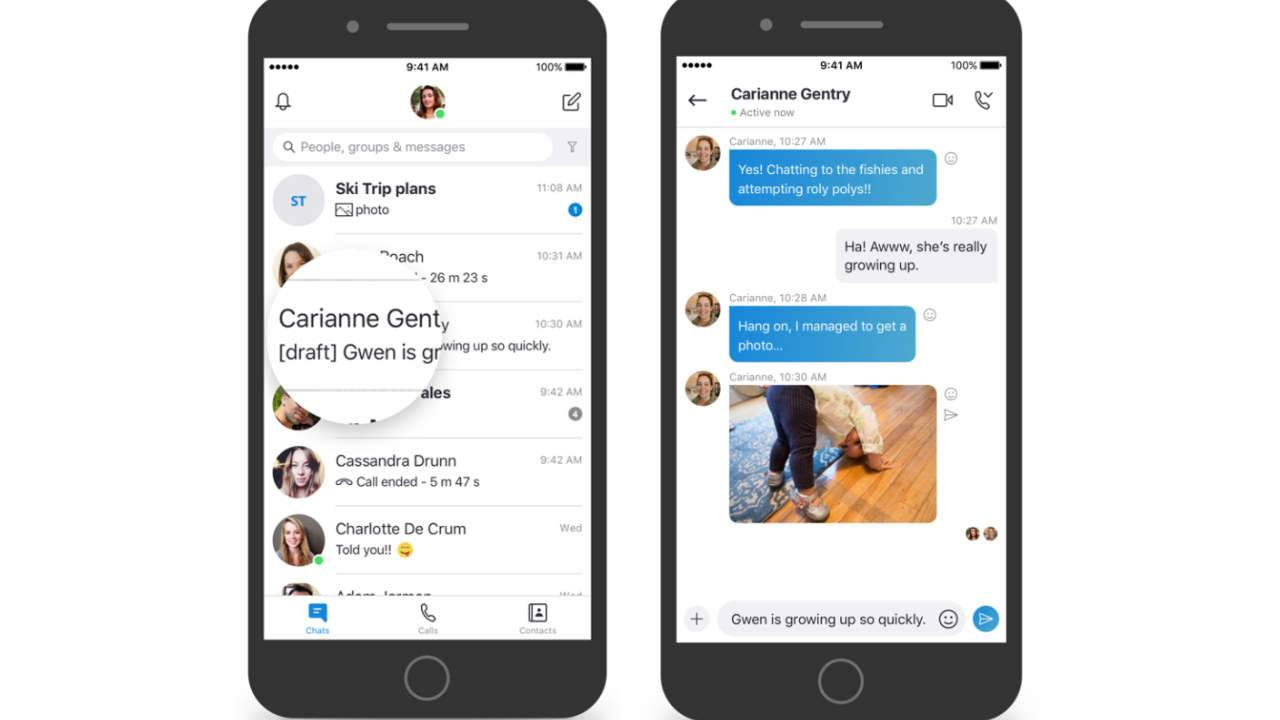 Skype update brings message bookmarks, split window, media previews