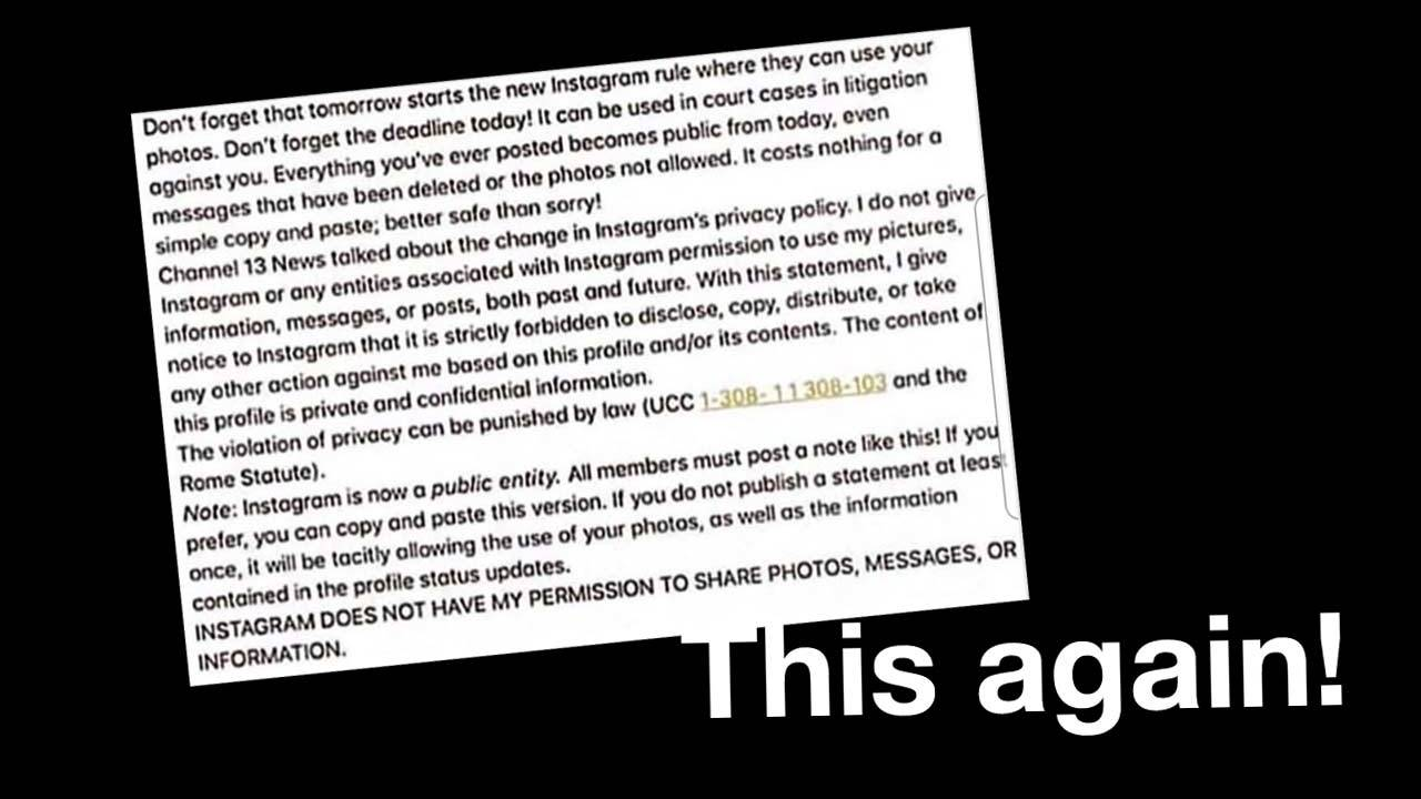 Instagram terms-of-service hoax: Who benefits?