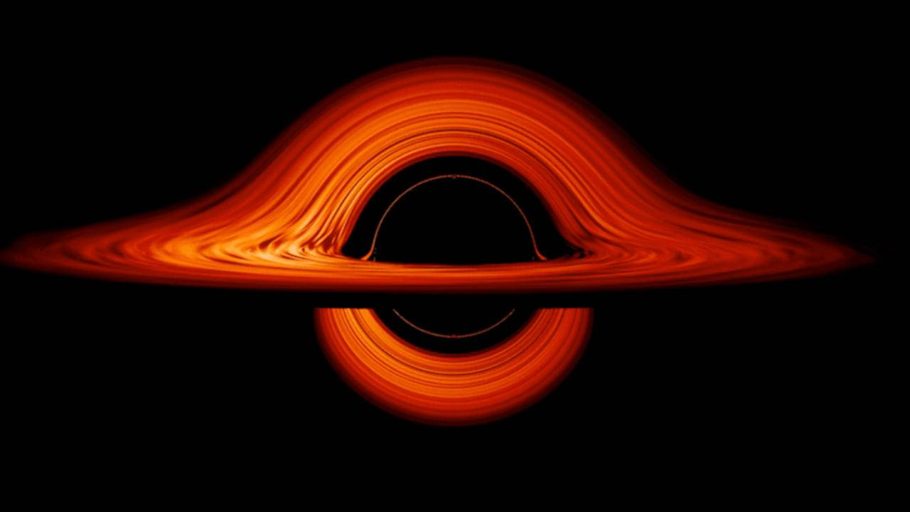 NASA's new black hole visualization shows 'carnival mirror' effect