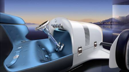 Vision Mercedes Simplex is a futuristic retro concept