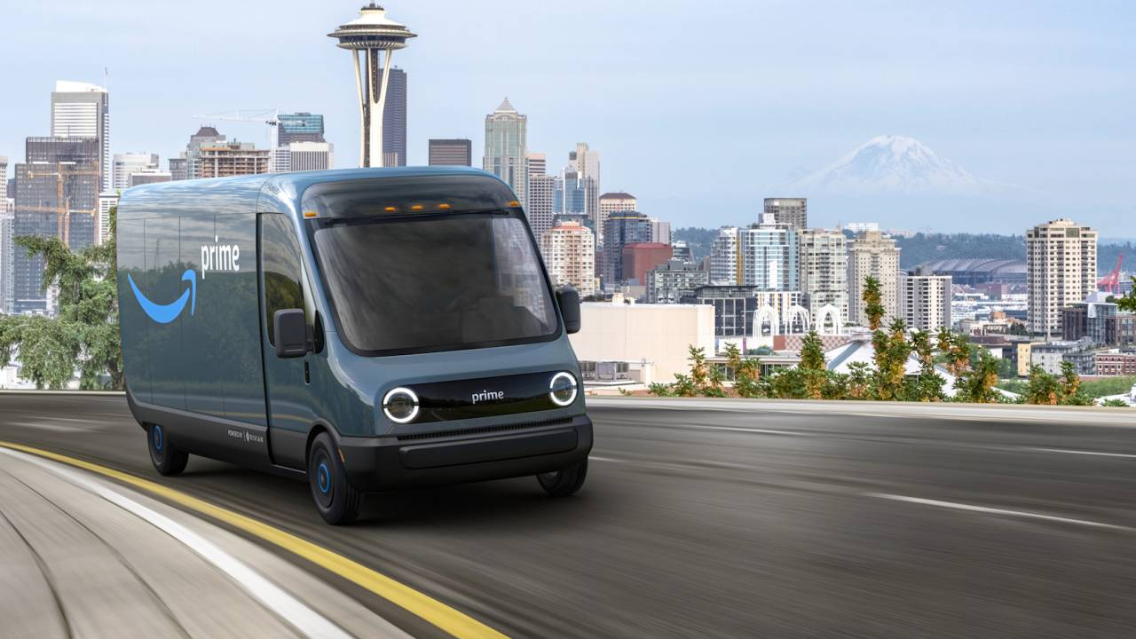 Amazon orders 100,000 Rivian electric delivery vans to go green
