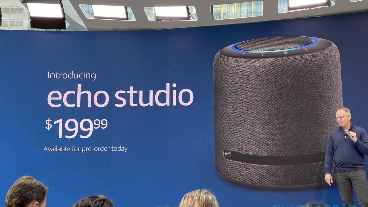 Amazon Echo Studio, Echo Dot with Clock, and new Echo revealed