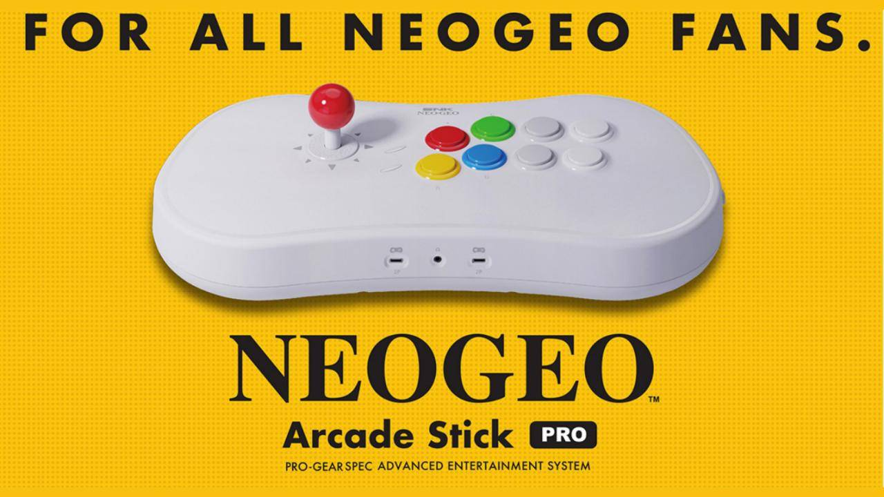 NEOGEO Arcade Stick Pro is a console and fighting stick in one