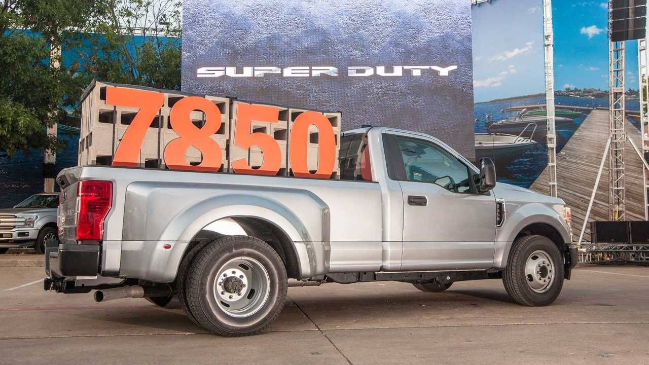 2020 Ford Super Duty can tow up to 24,200 pounds