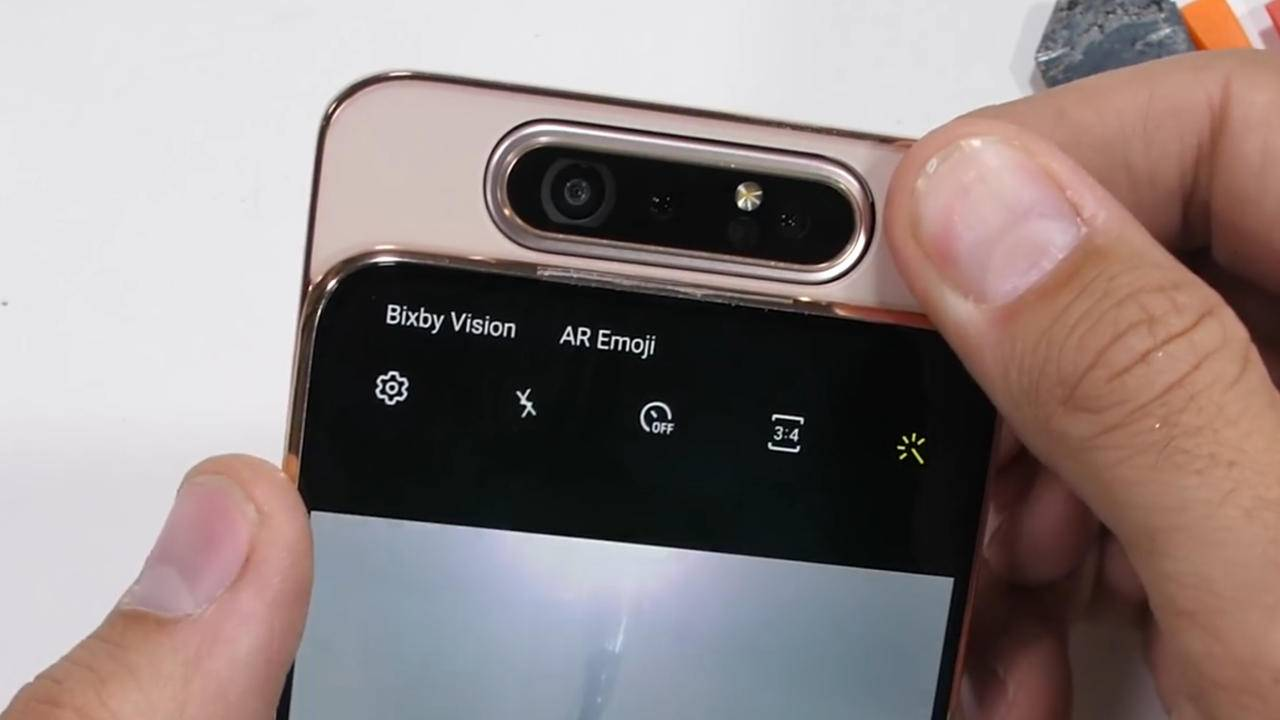 Galaxy A80 flipping camera is built for abuse