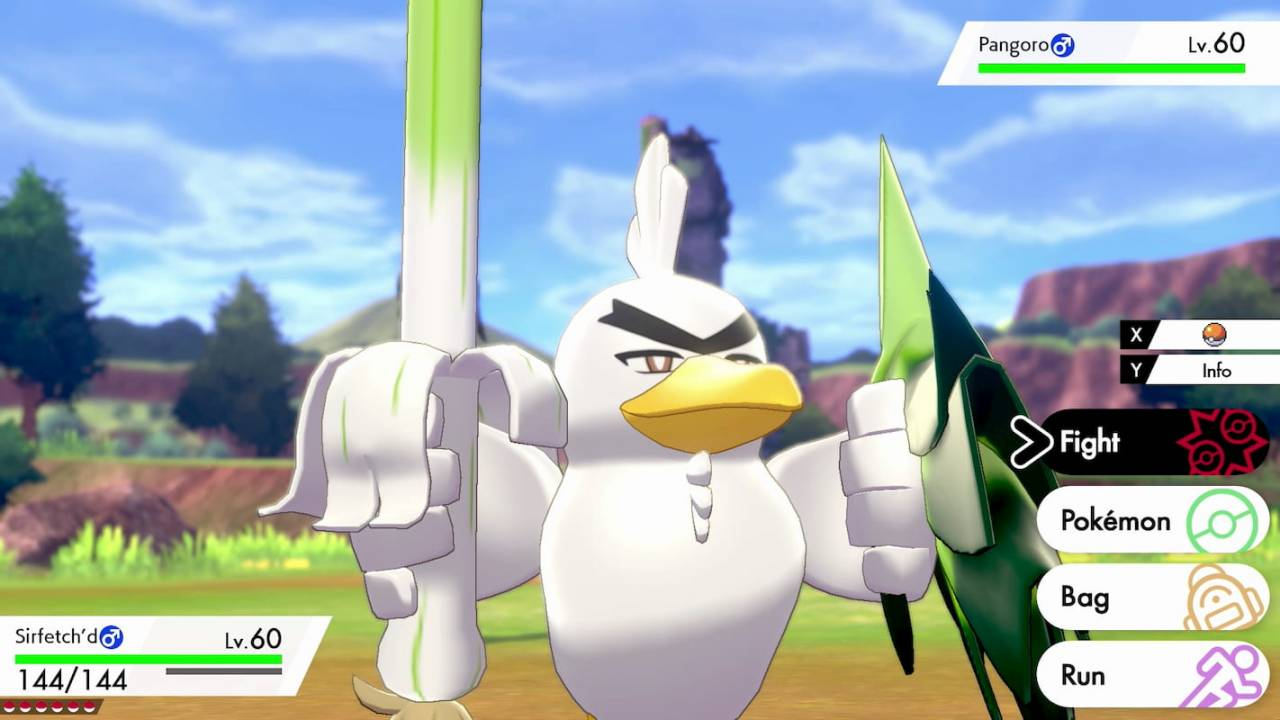 Pokemon Sword and Shield lets Farfetch'd evolve at last