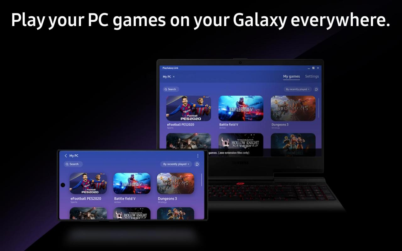 PlayGalaxy Link now available to stream Windows games to