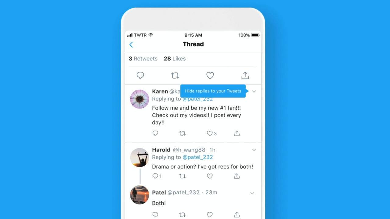 Twitter users in the US and Japan can now hide replies