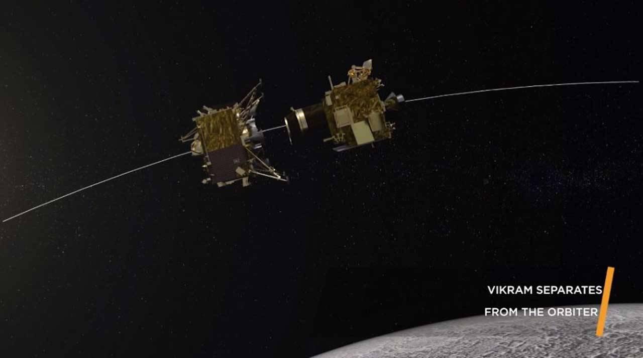 Indian moon orbiter releases Vikram lander
