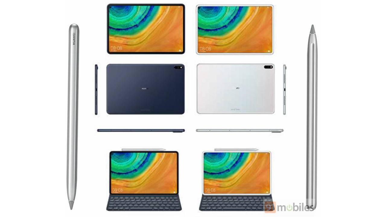 Huawei MediaPad Pro looks like iPad Pro and Galaxy S10 mashup