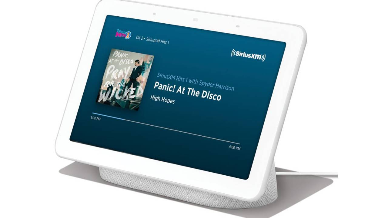 Google's smart displays and speakers grab SiriusXM with Assistant control