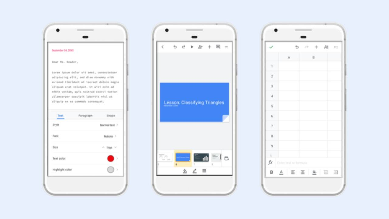 Google gives Docs, Sheets, and Slides a design refresh on Android
