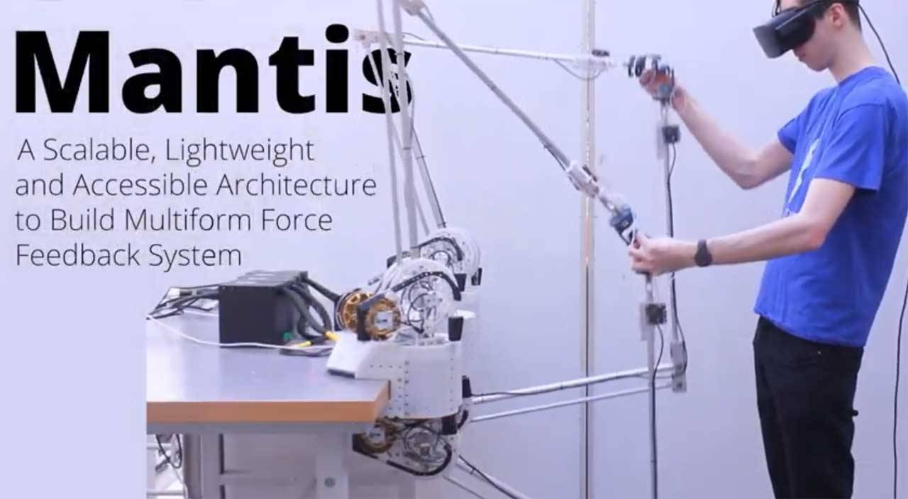 Mantis haptic robot arm is simple enough for anyone to use