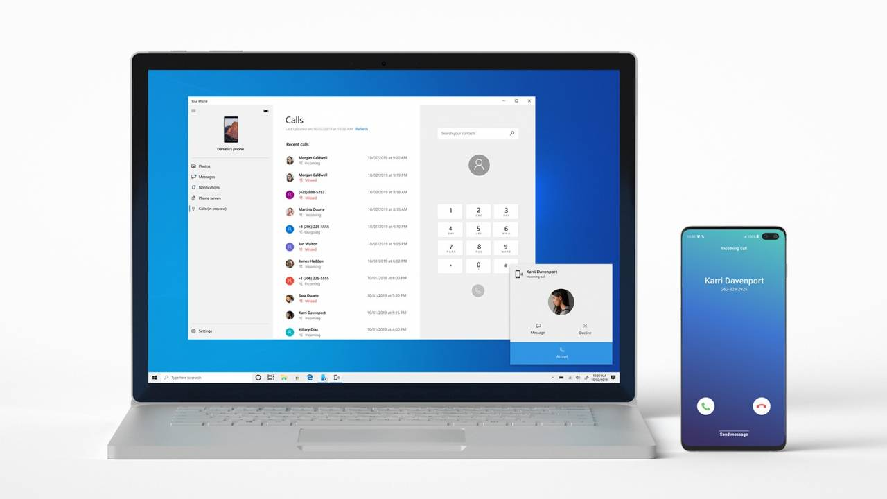 Android phone calls handoff just arrived in the Windows 10 Insider build