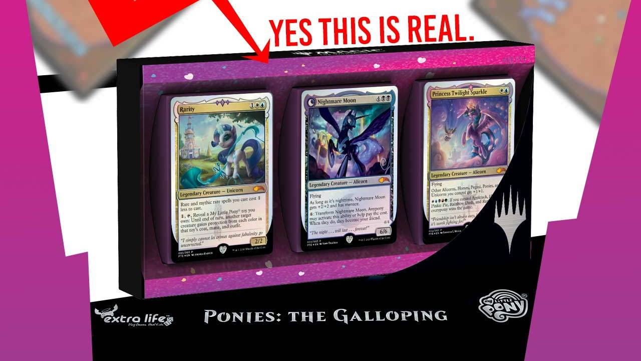 Magic: The Gathering My Little Ponies cards and charity event detailed