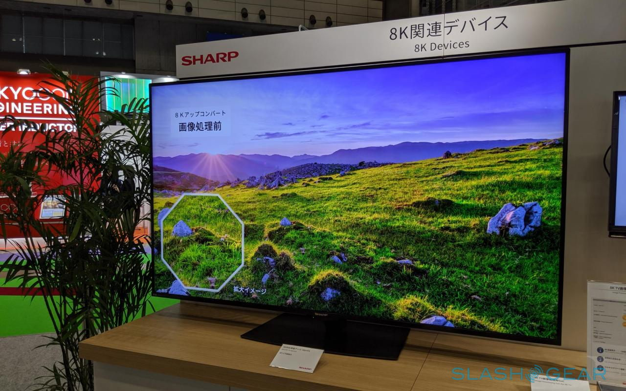 Sharp 8k Tv Touts Its Own Arm Processor For High Computing