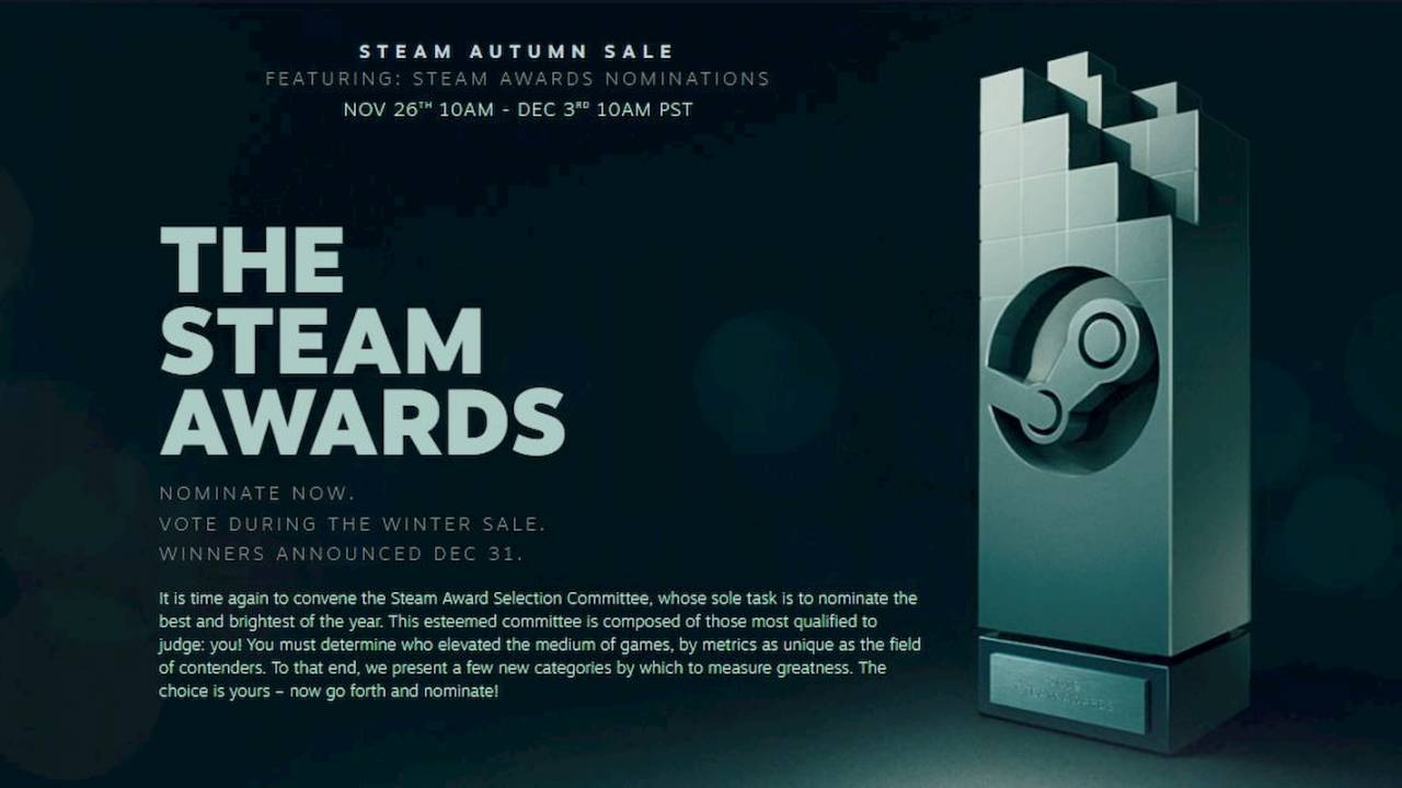 Steam Autumn Sale 2019 kicks off with Steam Awards nominations