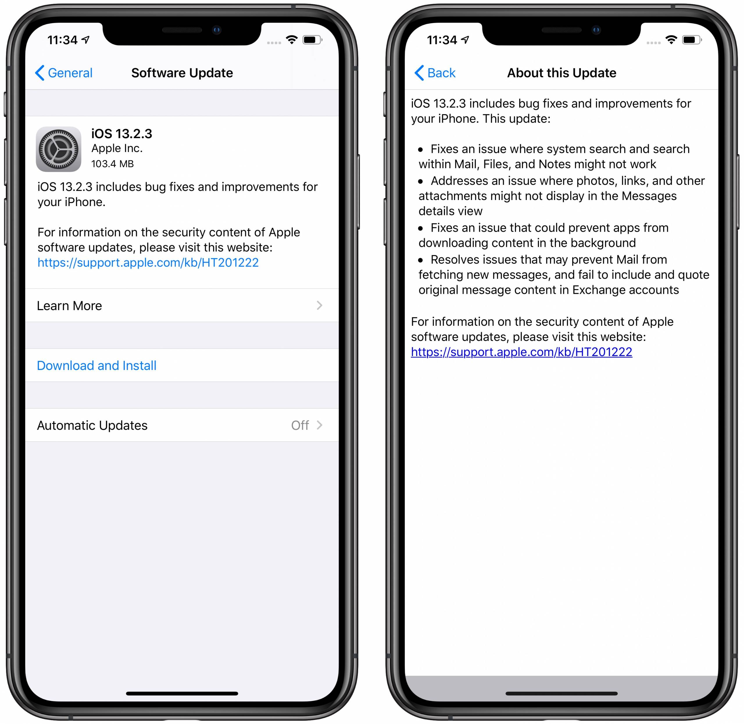 iOS 13.2.3 released to fix iPhone search and download bugs